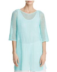 Eileen Fisher - Organic Linen Mesh Tunic - Lyst