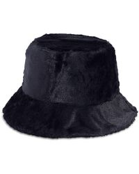 Echo Faux Fur Bucket Hat - Black