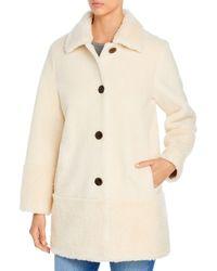 Kate Spade Faux Fur Coat - Natural