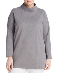 Eileen Fisher - Funnel Neck Tunic Top - Lyst