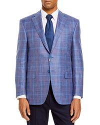Canali Siena Plaid Classic Fit Sport Coat - Blue