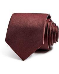 Theory Roadster Matte Silk Skinny Tie - Red