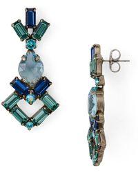Sorrelli Artisanal Drop Earrings - Blue