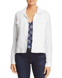 Tommy Bahama Two Palms Raw - Edge Linen Jacket - White