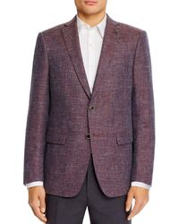 John Varvatos - Textured Mélange Weave Slim Fit Sport Coat - Lyst