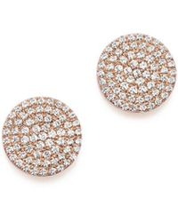Bloomingdale's - Diamond Disk Stud Earrings In 14k Rose Gold, .40 Ct. T.w. - Lyst