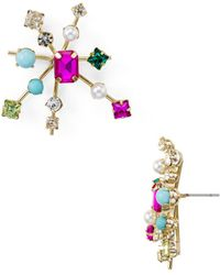 R.j. Graziano Starburst Stud Earrings - Multicolour