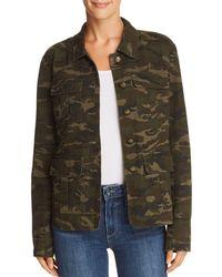 Aqua - Camo Military Jacket - Lyst