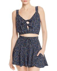 Sage the Label - Waiting For You Tie-detail Cropped Top - Lyst