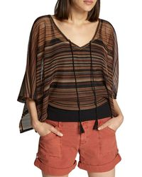 Sanctuary - Island Striped Poncho Top - Lyst