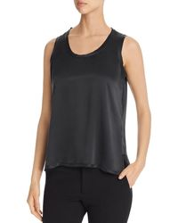 Go> By Go Silk Raw - Edge Tank - Black