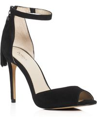 Botkier Anna Ankle Strap High Heel Sandals - Black