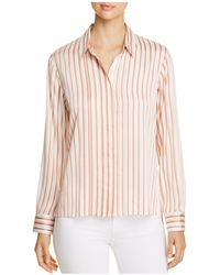 Donna Karan - New York Striped Button-down Top - Lyst