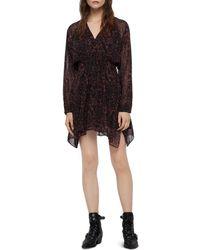 AllSaints - Nichola Rosey Floral Print Dress - Lyst