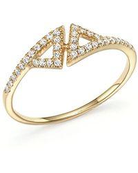 Dana Rebecca | 14k Yellow Gold Aria Selene Ring With Diamonds | Lyst