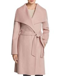 T Tahari Ellie Wrap Coat - Pink