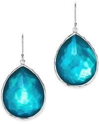 Ippolita - Sterling Silver Wonderland Mother-of-pearl & Clear Quartz Doublet Teardrop Earrings In Tide - Lyst