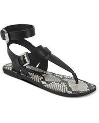Sigerson Morrison Women's Nolan T - Strap Sandals - Black