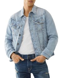 True Religion Jimmy Super T Regular Fit Jean Jacket - Blue