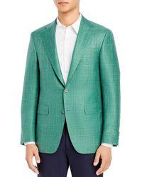 Canali Capri Window Plaid Slim Fit Sport Coat - Green