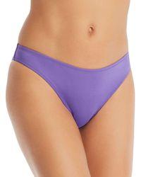 Vilebrequin Women Midi Brief Bikini Bottom Solid - Purple
