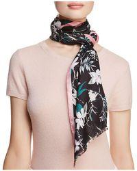 Kate Spade - Botanical Silk Oblong Scarf - Lyst