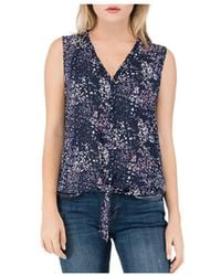 B Collection By Bobeau - Gabrielle Printed Button - Down Top - Lyst