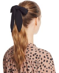 Aqua Tie Detail Scrunchie - Black