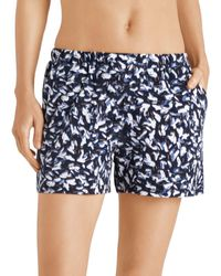 Hanro Sleep & Lounge Knit Shorts - Blue