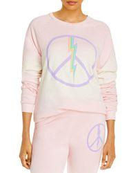 Aqua Lauren Moshi X Electric Peace Sweatshirt - Pink