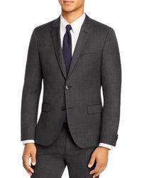 HUGO Arti Birdseye Extra Slim Fit Suit Jacket - Gray