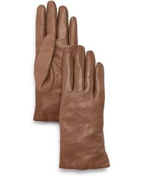 Bloomingdale's - Cashmere - Lined Leather Gloves - Lyst