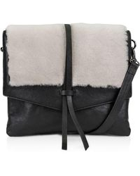 Kooba - Yukon Medium Leather & Shearling Crossbody - Lyst