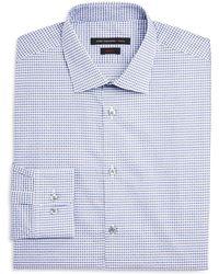 John Varvatos - Micro Check Dot Slim Fit Dress Shirt - Lyst