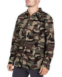 Barney Cools - Heritage Camouflage-print Corduroy Regular Fit Shirt - Lyst