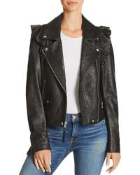 PAIGE - Annika Leather Moto Jacket - Lyst