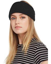 C By Bloomingdale's Chunky Rib - Knit Cashmere Headband - Black