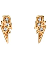 Karl Lagerfeld - Mini Rocky Lightning Bolt Earrings - Lyst