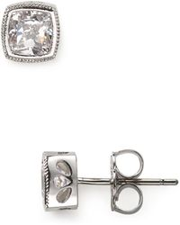 Nadri - Cushion Cut Stud Earrings - Lyst