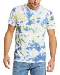 Sol Angeles Citron Marble Cotton Tie Dyed Tee - Blue