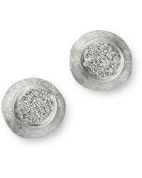 Marco Bicego 18k White Gold Delicati Jaipur Diamond Stud Earrings - Metallic