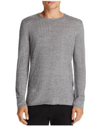 John Varvatos - Stitched Crewneck Sweater - Lyst