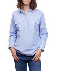 Gerard Darel Cara Poplin Shirt - Blue