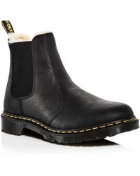 Dr. Martens - Women's Leonore Leather Chelsea Booties - Lyst
