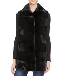 Maximilian Sheared Mink Fur Vest - 100% Exclusive - Black