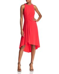 Adrianna Papell - Gathered Jersey Dress - Lyst