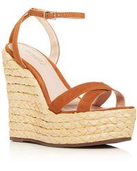 Schutz Women's Alanisie Espadrille Platform Sandals - Brown