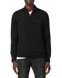 AllSaints Kilburn Quarter Zip Jumper - Black