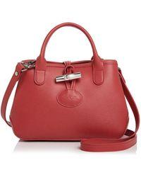 Longchamp - Roseau Mini Leather Crossbody - Lyst