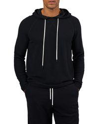 ATM Piqué Pullover Hoodie - Black